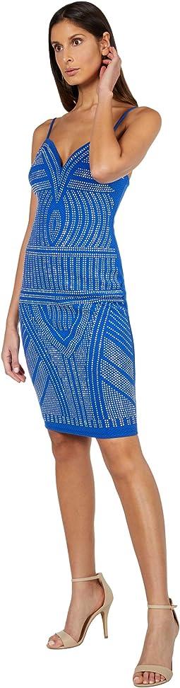 Sweetheart Jacquard Midi Dress