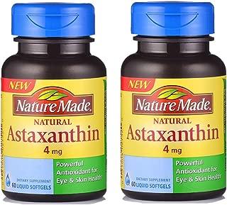 Nature Made 莱萃美 天然虾青素软胶囊 60粒 雨生红球藻抗氧化 (2瓶)