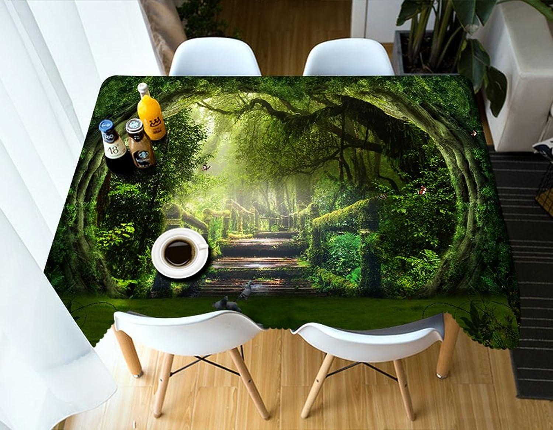 Qiao jin Tischdecke Rechteckige Tischdecke - 3D personalisierte Tischdecke PG01032 - umweltfreundlich und geschmacklos - Digitaldruck wasserdicht (größe   Rectangular -90cm120cm) B07D57H27J Neuartiges Design  | Zu verkaufen
