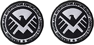Antrix 2 Pcs Tactical Marvel Comics Avengers Agents of Shield Logo Applique Patch Hook and Loop Military Agents of Shield Badge Morale Patch - Dia.3.15