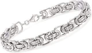 Ross-Simons Men's Sterling Silver Byzantine Box Link Bracelet