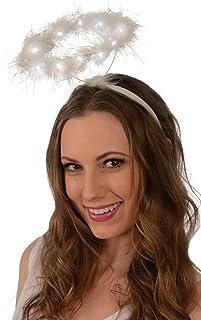 Light-Up Angel Halo Headband; White LED Angel Halo