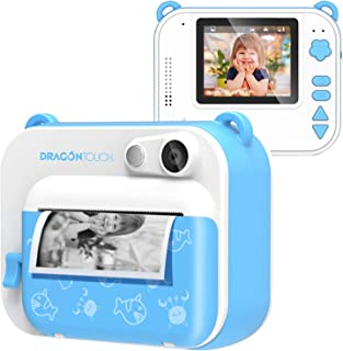 Dragon Touch InstantFun Instant Print Camera for Kids, Zero Ink Toy Camera with PrintPaper, CartoonSticker, ColorPencil...