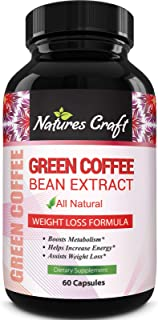Pure Green Coffee Bean Extract and Standardized to 50% Chlorogenic Acid with Weight Loss Supplement for Men and Women, Bur...