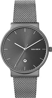 Skagen Men's Ancher Three Hand Gray-Tone Titanium Watch SKW6432