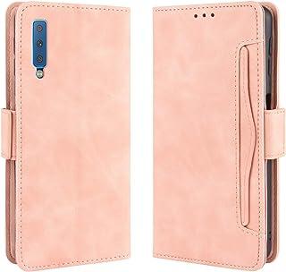 Galaxy A7 ケース 手帳型 A7 2018 手帳 ギャラクシーa7カバー 財布型 サイドマグネット カードポケット 横置き機能 超高の収納力 ストラップホール 高級PUレザー 耐衝撃 sy204 Ayakumo ピンク