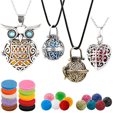 Aromatherapy Essential Oil Diffuser Necklace Pendant