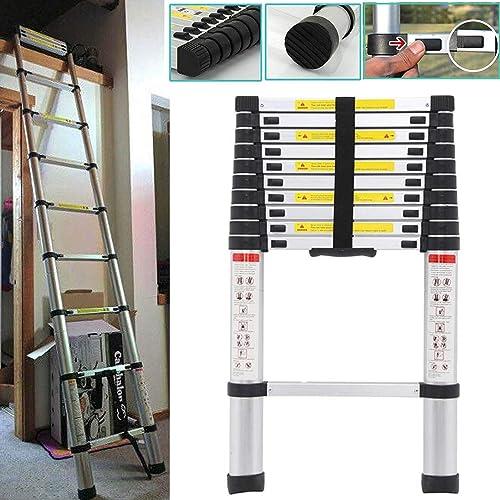 lowest Telescoping Ladder 10.5ft Aluminum wholesale Extension Steps EN131 Certified 330lbs 2021 Capacity outlet online sale