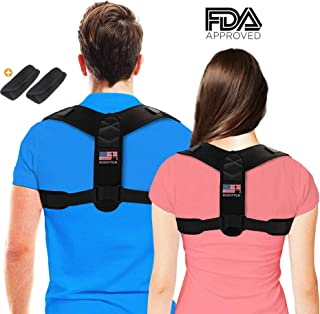 Posture Corrector for Men and Women, Adjustable Shoulder Posture Brace - FDA Approved - Upper Back Brace Posture Corrector, Back Straightener for Spinal Alignment and Posture Support