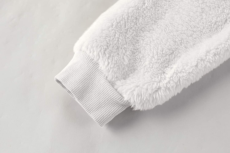 Gemijacka Pullover Kinder Kapuzenpullover Unisex Teddy-Fleece Sweatshirt mit Kapuze Jungen M/ädchen Pl/üsch Winter Hoodie