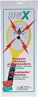 ANGOPE Raqueta eléctrica Anti Insectos - exterminadora de Mosquitos, Moscas y Avispas - rápida ...