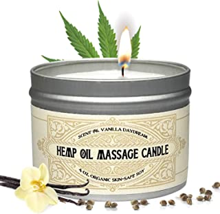 Massage Oil Candle For Pure Relaxation - Made From Organic Hemp Seeds Oil - Amazing Gift For Women & Men By Alter Native -...