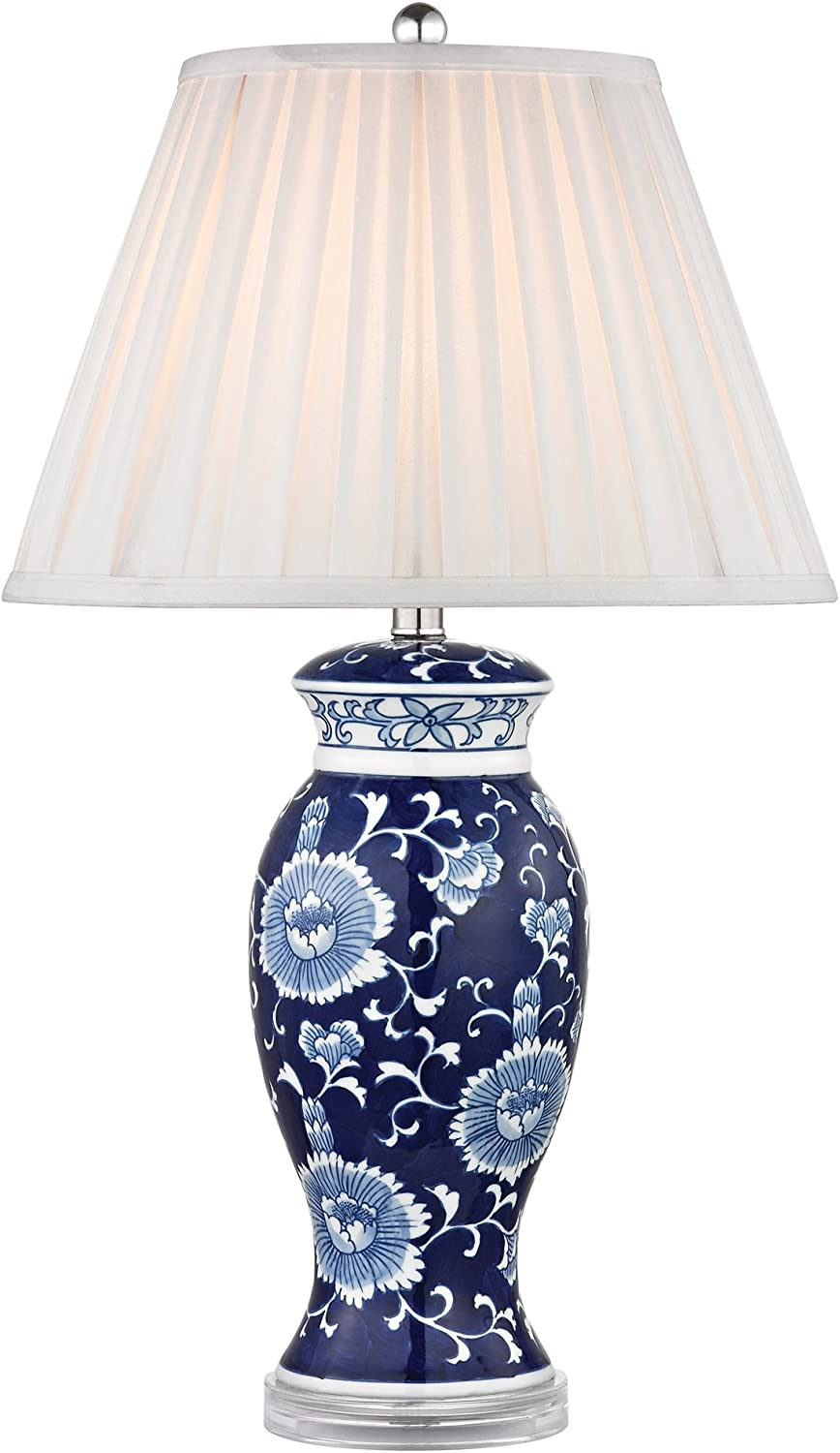 Dimond Lighting D2474 bluee and White Ceramic Table Lamp, Hand Painted, 16  x 16  x 28