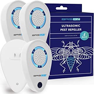 Ultrasonic Pest Reject Repeller - Plug in Electronic Non-Toxic Device - Electromagnetic and Ultrasound Control - Repellent for Mice Rats Bed Bugs Spiders Rodents Insects - Indoor