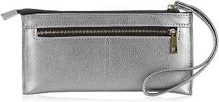 Women's Leather Wristlet Wallet Ladies Long Casual Clutch Purse Cellphone Bag with Wristlet Strap