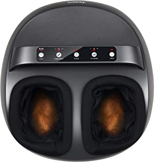 Shiatsu Foot Massager Machine with Heat - Tespo Deep Kneading Therapy, Foot Air Compression, Relieve Foot Pain from Plantar Fasciitis, Improve Blood Circulation