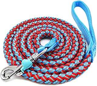 Best Mycicy Rope Dog Leash - 4/6/10 Foot Reflective Dog Leash - Mountain Climbing Nylon Braided Heavy Duty Dog Training Leash for Large and Medium Small Dogs Walking Leads Review