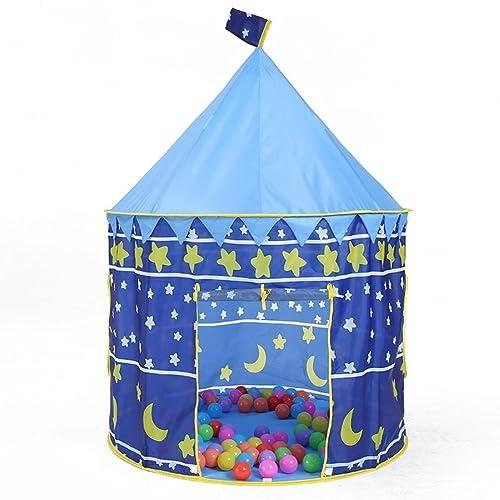 LIAN Spielzelt der Kinder tragbares Innen- Spielhaus im Freien Anti-Moskito windfeste Jurte (39.4  39.4  51.2inch Verpackung von 1) (Farbe   Blau A)