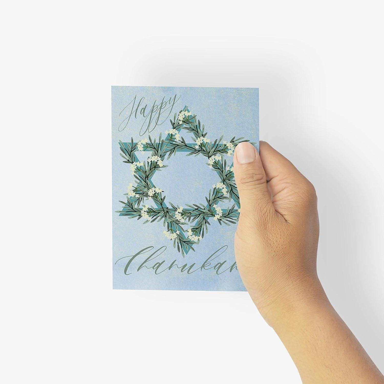 Beautiful Happy Hanukkah Greetings Cards - Star New Max 49% OFF York Mall 24 Chan David of