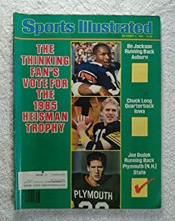 Bo Jackson (Auburn Tigers), Chuck Long (Iowa Hawkeyes) & Joe Dudek (Plymouth State Panthers) - Heisman Trophy Candidates - Sports Illustrated - December 2, 1985 - College Football - SI