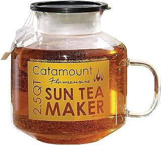 Catamount Microwave Sun Tea Maker, Glass, 2.5 Quart, Dishwasher and Microwave Safe