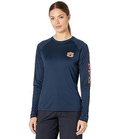 Columbia College Auburn Tigers Collegiate Tidal Long Sleeve Shirt (Collegiate Navy/Spark Orange) Women