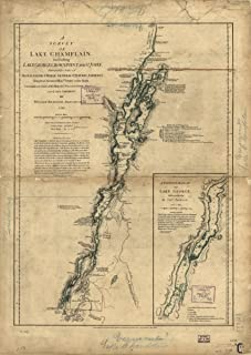 Map: 1776 A Survey of Lake Champlain, Including Lake George, Crown Point, and St. John Champlain Lake George Lake George L...
