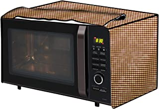 The Furnishing Tree Microwave Oven Cover for IFB 25 L Convection 25SC3 Pin Check Pattern Brown