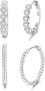 Best moissanite huggie hoop earrings Reviews