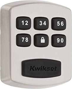 Kwikset 99050-003 Model 905 Value Lock Keyless Entry Electronic Keypad Deadbolt for Garage or Side Door, Satin Nickel