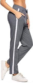 Aibrou Pantaloni da Jogging Donna, Pantaloni Sportivi Lunghi in Cotone 100% per Pantaloni da Allenamento Fitness da Jogging