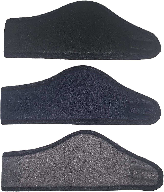 Cotton Konnection 3 Pcs Assorted Solid Color Men's Fleece Headband/Ear Muff.
