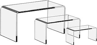Marketing Holders Riser Set Lot of 2 Three Piece Riser Sets Premium Clear Acrylic Displays