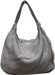 BZNA Bag Sanna grau Italy Designer Damen Handtasche Schultertasche Tasche Leder Shopper Neu