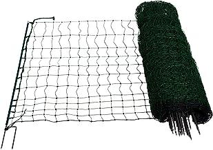 Geflügelzaun Geflügelnetz  Volieren  1,50 m x 40 m  grün  Maschenweite 5 cm