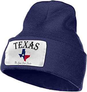 Gihfhpoiujho Unisex Adult Texas Lone Star State Casual Bonnet, Men's Winter Hat, Cool Hat, Men's Lined Knit, Warm, Thick, Beanie Hat, Unisex