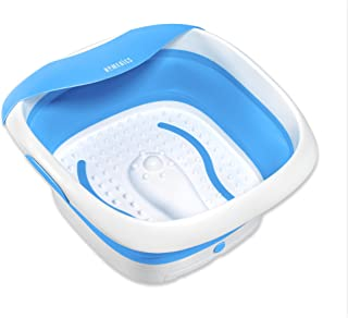 HoMedics  Compact Pro Spa Collapsible Footbath with Heat   Vibration Massage, Acu-Node Surface, Heat Maintenance   Improves Circulation, Soothe Tired Muscles, Collapsible Tub for Easy Storage
