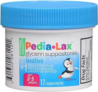 Fleet Pedia-Lax Children's Glycerin Suppositories, 12 Count
