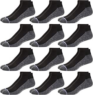 Nautica Mens 12 Pack Moisture Control Athletic Lowcut Socks