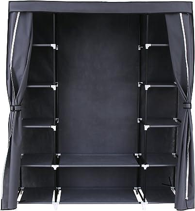 Amazoncouk Grey Bedroom Wardrobes Bedroom Furniture