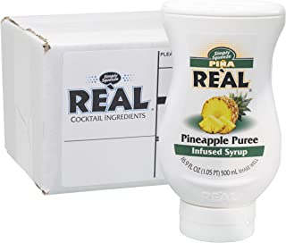 Piña Reàl, Pineapple Puree Infused Syrup, 16.9 FL OZ Squeezable Bottle (Pack of 1)