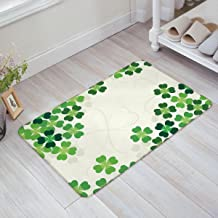 St. Patrick's Day Decorative Doormat Custom Machine-washable Door Mat Clover Pattern Indoor/Outdoor Decor Rug Doormat by YEHO Art Gallery 23.6