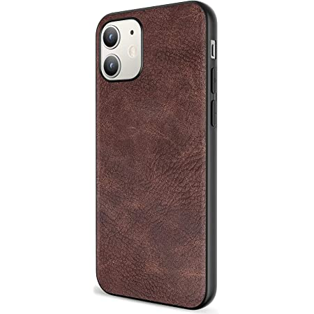Salawat Compatible with iPhone 12 Mini Case, Slim PU Leather Vintage Shockproof Phone Case Cover Lightweight Premium Soft TPU Bumper Hard PC Hybrid Protective Case 5.4 inch (Dark Brown)