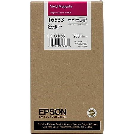 Epson UltraChrome HDR Ink Cartridge - 200ml Vivid Magenta (T653300)