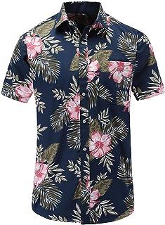 Chemise hawaïenne Hawaï hawaii chemise jaune fleurs séries Blanc
