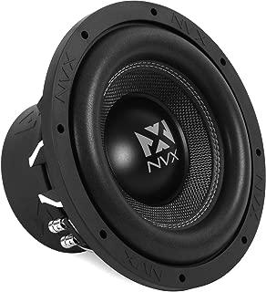 NVX 10-inch True 750 watt RMS 1500 watt Peak Dual 4-Ohm Car Subwoofer 3-Dimensional Die Cast Aluminum Basket [VCW104]