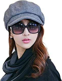 Ladies Newsboy Cap Womens Baker Boy Visor Berets Peaked Ivy Flat Hat for Women