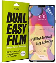 Ringke Dual Easy Film (2 Pack) Compatible with LG V40 ThinQ High Resolution Anti-Smudge Coating Easy Application Case Friendly Screen Protector for V40 Thin Q (2018)