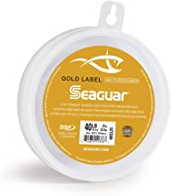 """Seaguar, Gold Label Saltwater Fluorocarbon Line, 25 Yards, 40 lbs Tested.020"""" Diameter, Gold"""