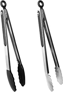 Rippl Kitchen Tongs Set - Tongs for Cooking, Grilling Tongs, Barbecue Tongs (BBQ) - 12 inch Cooking Utensils with Silicone...